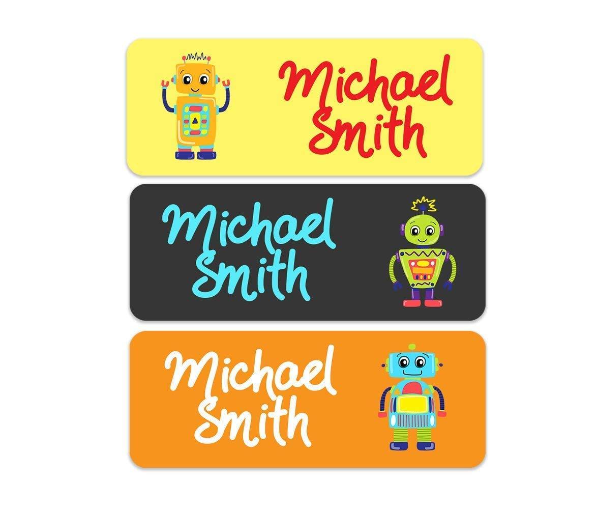 Container Label Kids Label Label Robot Label Name Label Sticker Label Label School Label Toy Robot Label