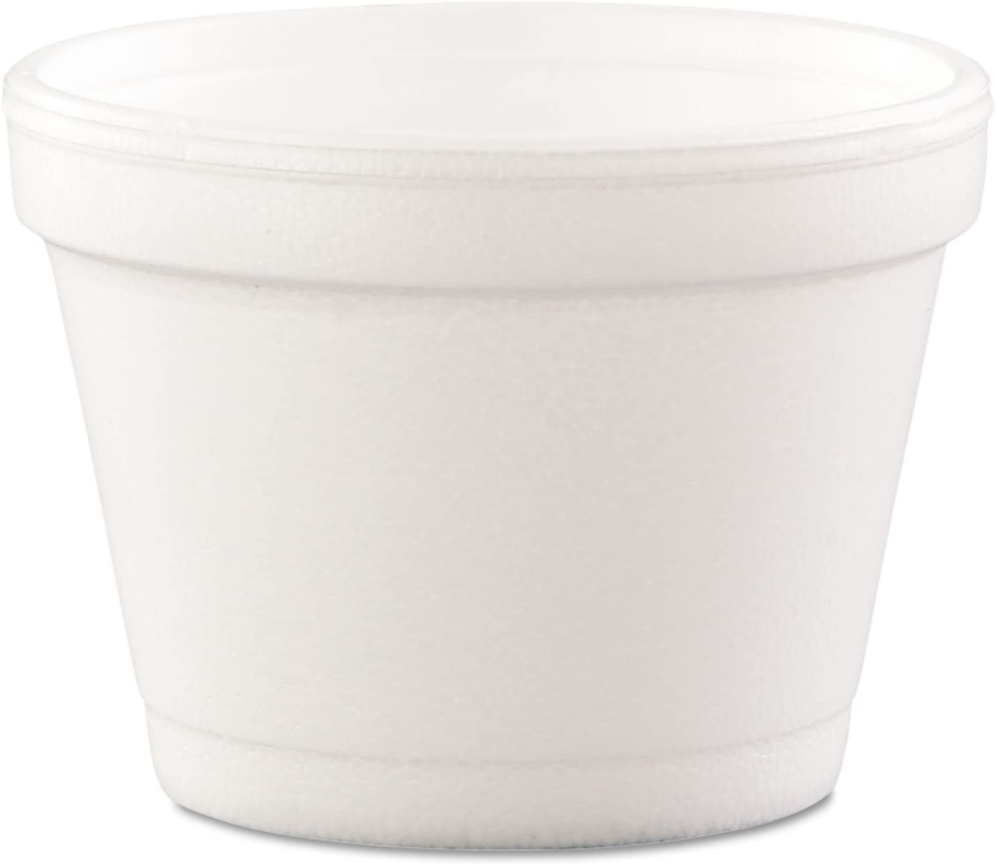 DCC Dart 4J6 Bowl Containers, Foam, 4oz, White (Case of 1000)