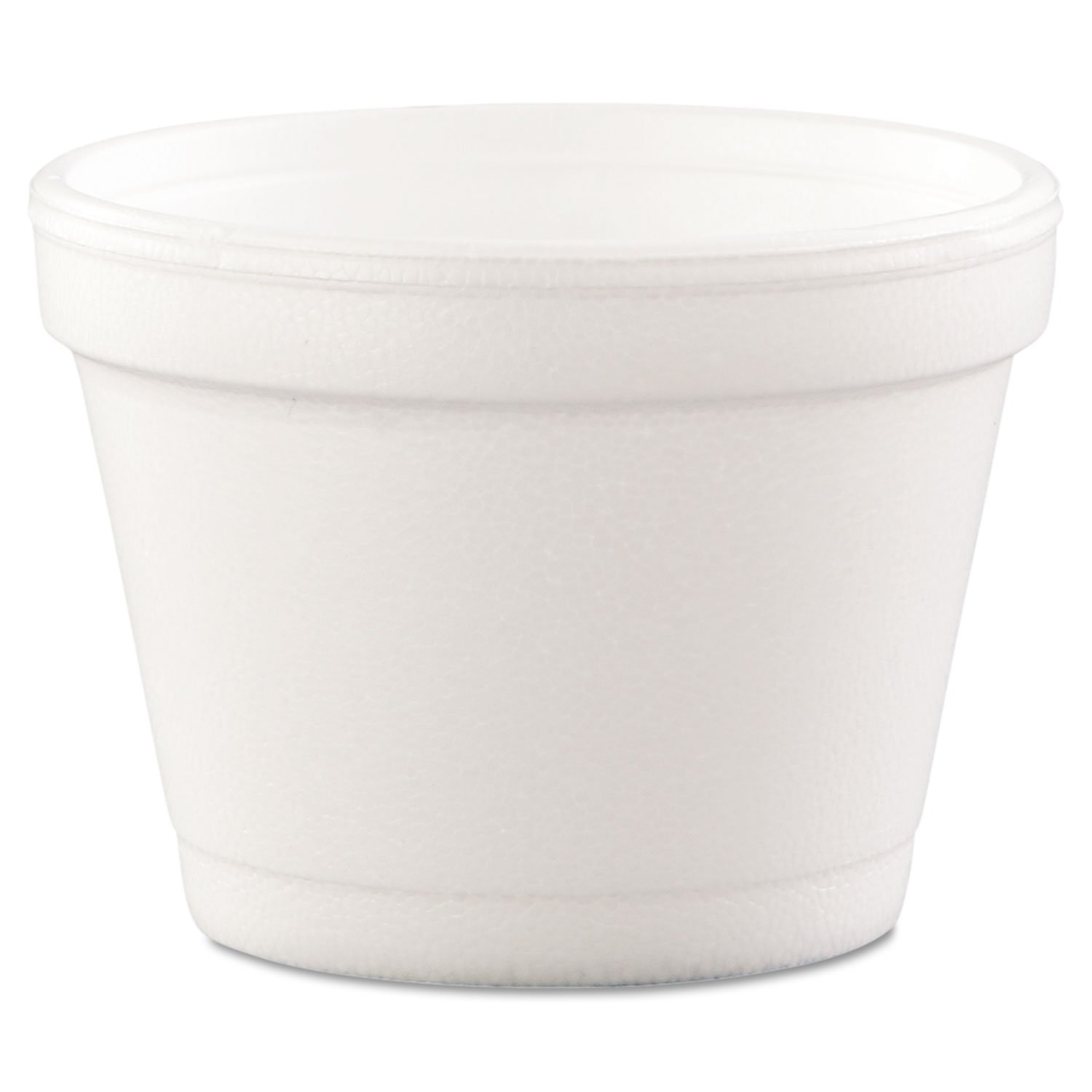 Dart 4J6 Bowl Containers, Foam, 4oz, White (Case of 1000) by DART