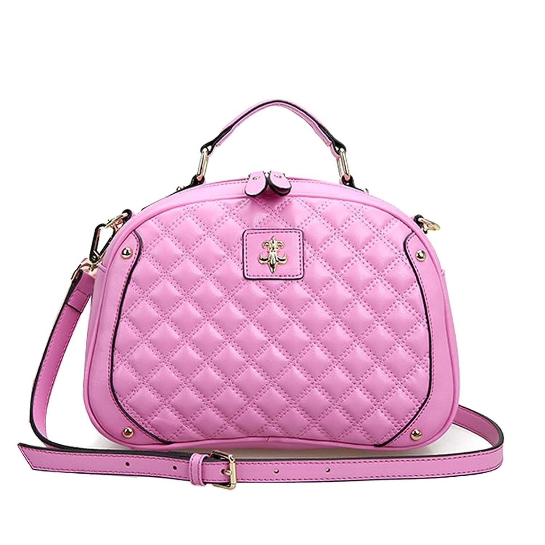 Fineplus Womens New Cute Diamond Texture Split Cow Leather Tote Bag