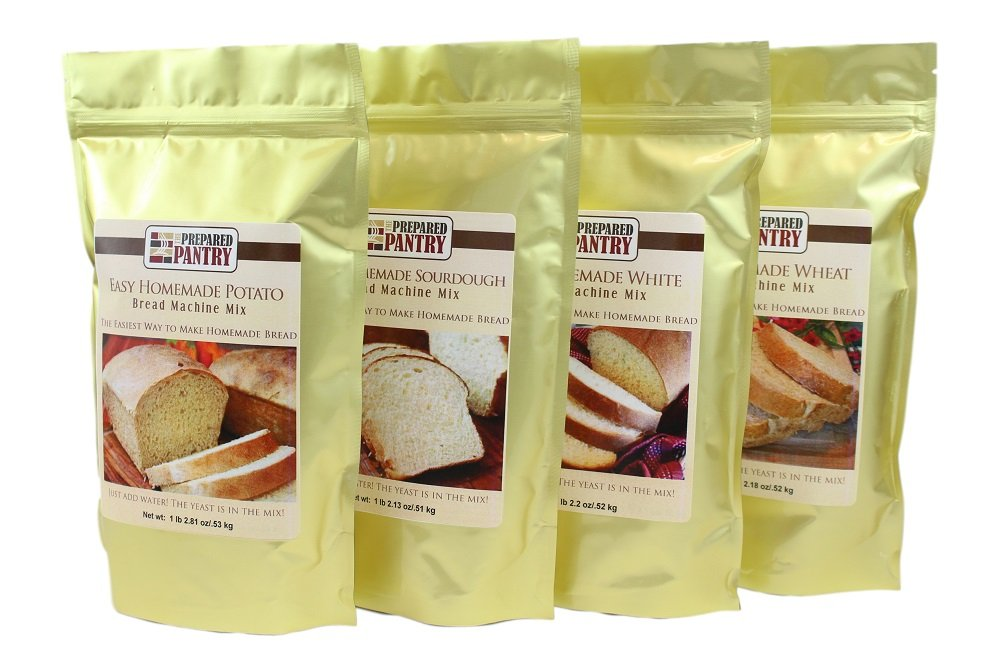 4 Mixes Easy Homemade Bread Machine Mix Collection (for oven also)