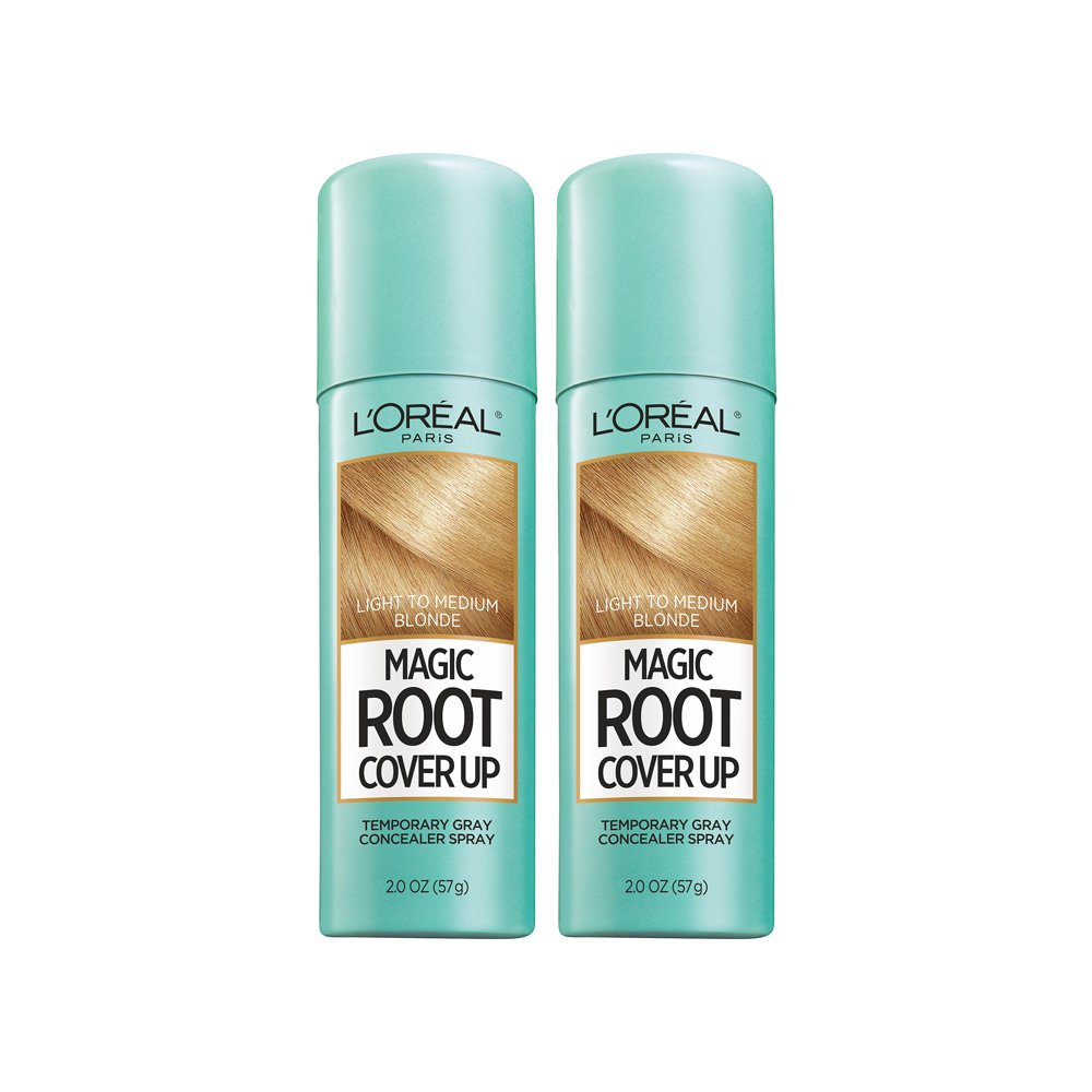 L'Oreal Paris Hair Color Root Cover Up Hair Dye Light to Medium Blonde 2 Ounce (Pack of 2) (Packaging May Vary) by L'Oreal Paris