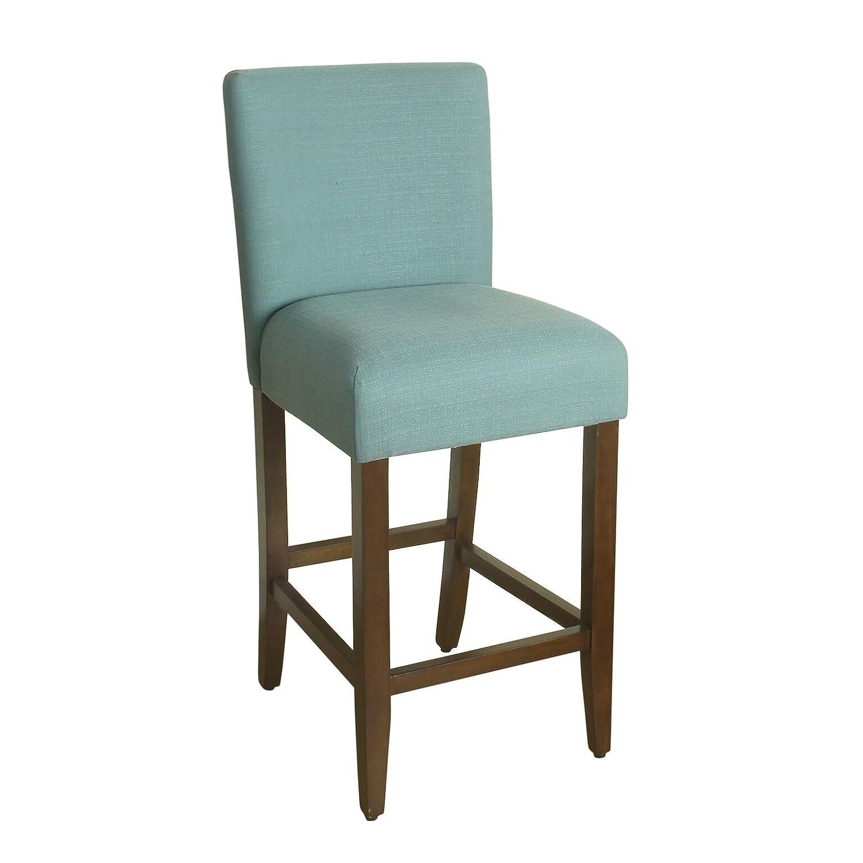 Outstanding Homepop Upholstered Counter Height Barstool 29 Inch Textured Aqua Cjindustries Chair Design For Home Cjindustriesco