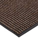 "NoTrax 117S0023BR 117 Heritage Rib Entrance Mat, for Lobbies and Indoor Entranceways, 2' Width x 3' Length x 3/8"" Thickness, Brown"