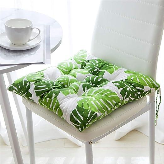 Juego de 4 cojines de asiento de GLITZFAS de 40 x 40 cm, cojines para sillas de jardín, balcón, terraza, Monstera, Platz: Amazon.es: Hogar