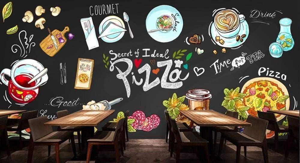 Adhesivo decorativo para pared, diseño de pizarra, fondo de pantalla pintado, pintado a mano, para pared, restaurante, cantimplora, tela sin tejer, 400cmx280cm