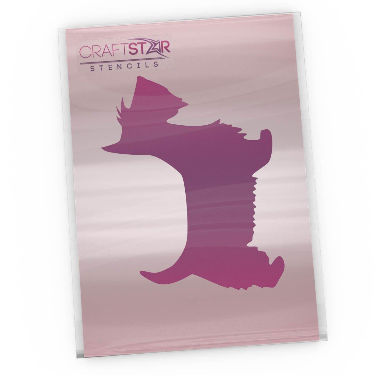 CraftStar Scottie Dog Stencil - Reusable Mylar Dog Craft Stencil