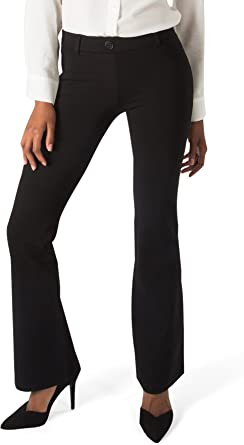 Amazon Com Betabrand Women S Dress Pant Yoga Pants Boot Cut Clothing