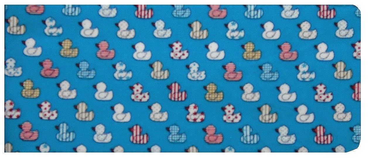 Blue Quacky Ducks Print Chequebook Cover/Checkbook Cover - Glossy Finish MSCB003