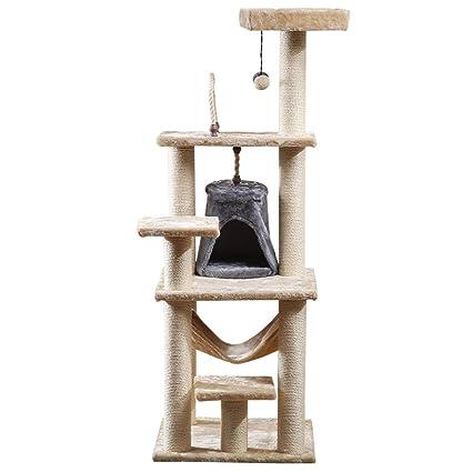 LDFN Gato Gato De Escalada Arena para Gatos Gato del árbol De Múltiples Capas Escalar Uno