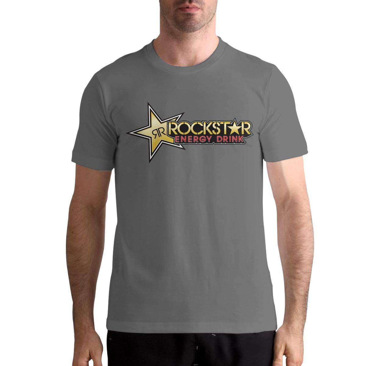 Thomlarryca Rockstar Energy Drink Classic Leisure T Shirts For Black
