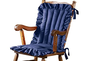 Ruffled Edge Comfort Chair Cushion, Blue