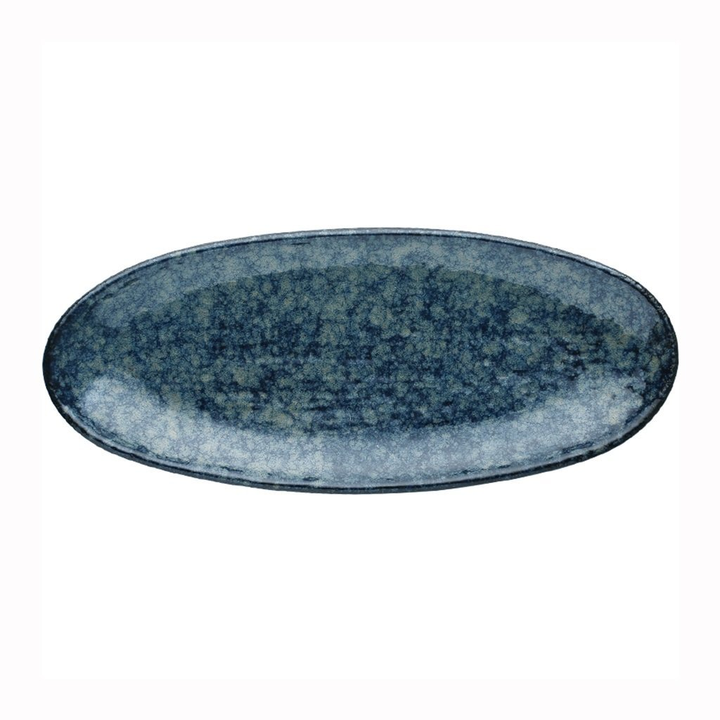 He Xiang Ya Shop Fruit Plate Home Ceramic Sushi Plate Blue Snack Plate Dish Plate Long Strip Plate by He Xiang Ya Shop (Image #1)