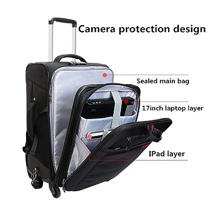 2 en 1 - Maleta con Ruedas para cámaras SLR/DSLR (Impermeable, con ...