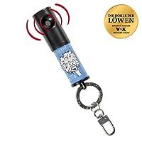 SAFAYA Alarmsirene - 110 dB | keine Batterien notwendig | mehrfach einsetzbar | Klicksystem zur Befestigung an Tasche oder Schlüsselbund