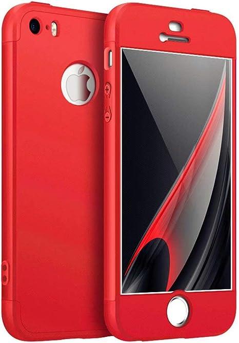 AILZH Funda iPhone 5/5S/SE Cubierta 360 Grados Caja protección de ...