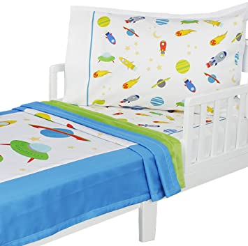 Best Amazon.com : 3pc RoomCraft Blast Off Toddler Bedding Set Outer  ER29