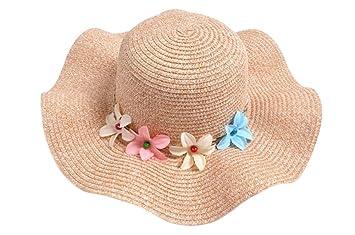 Hosaire Sombrero para el sol sombrero de paja Verano Gorra Sombrero Algodón Anti UV Solar para Viaje Playa para Bebé Niñas: Amazon.es: Hogar