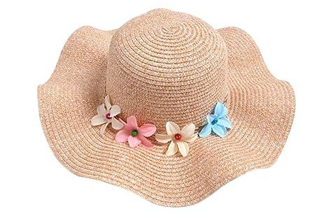 Hosaire Sombrero para el sol sombrero de paja Verano Gorra Sombrero Algodón  Anti UV Solar para 271de7c551b
