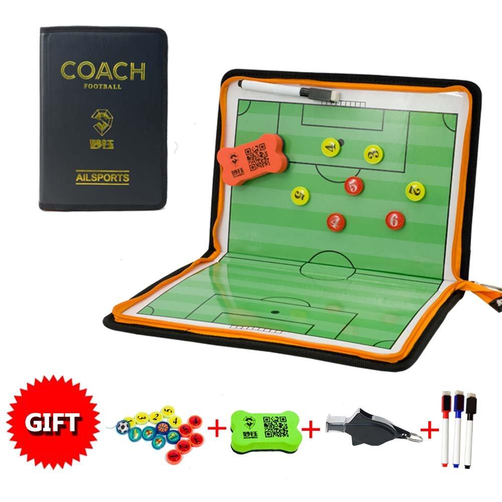 ShinestoneメンズFootball Referee Foldコーチボード B0784CKY9C  ファスナー
