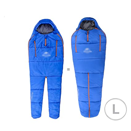 Humanoid saco de dormir espesamiento cálido adulto saco de dormir invierno de interior ultra-ligero