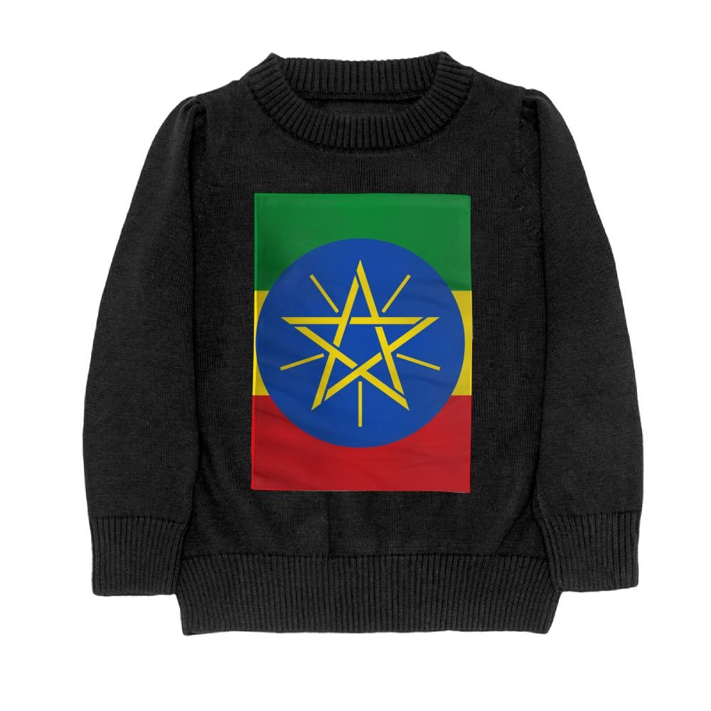 DTMN7 Flag of Ethiopia Teens Sweater Long Sleeves Crew-Neck Youth Athletic Casual Tee Junior Boys