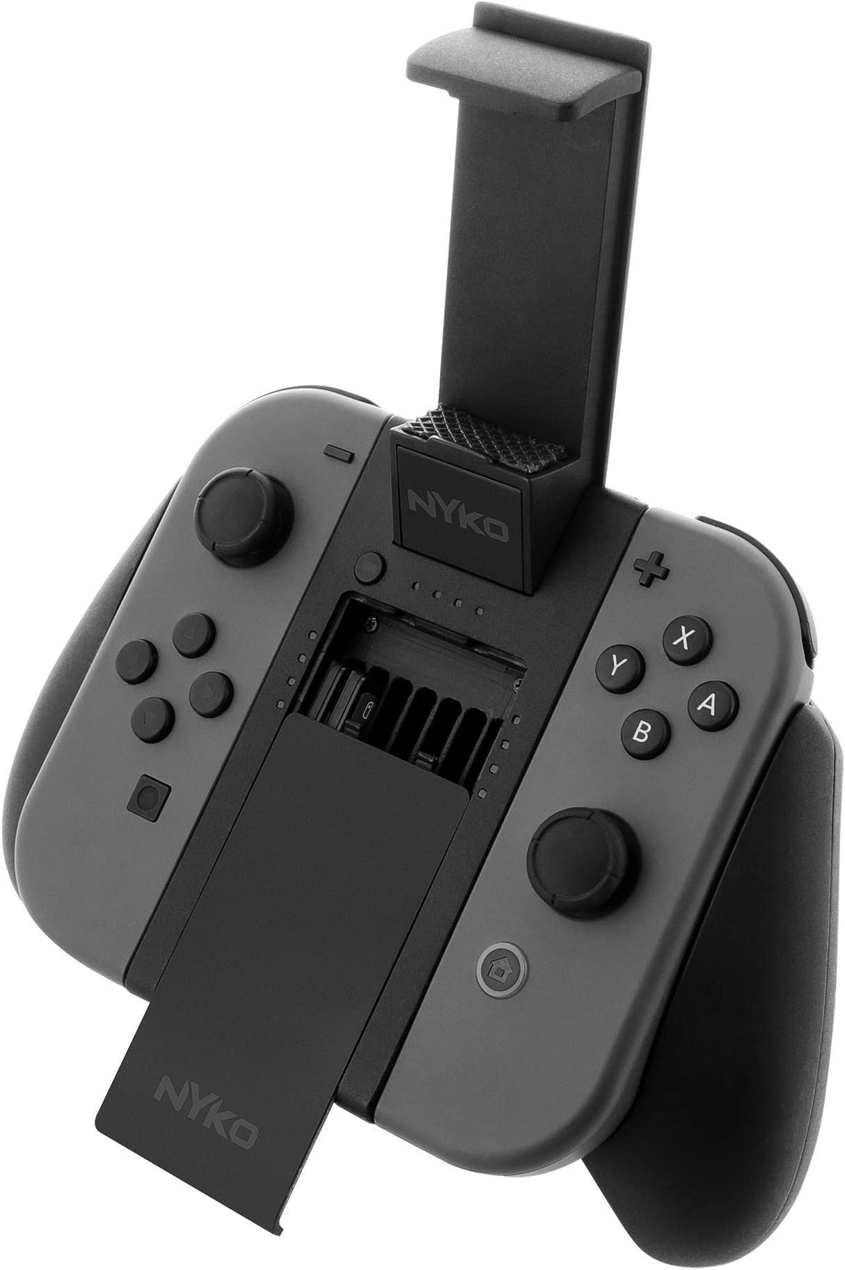 Nyko Clip Grip Power   Joy Con Grip With Cell Phone Mount, Rechargeable Battery Pack, Game Storage And Sd Card Holder For Nintendo Switch by By          Nyko