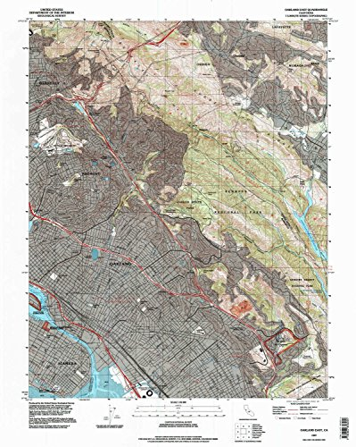 Oakland East CA topo map, 1:24000 scale, 7.5 X 7.5 Minute, Historical, 1997, updated 1997, 27 x 21.5 IN - - Park Crocker Map