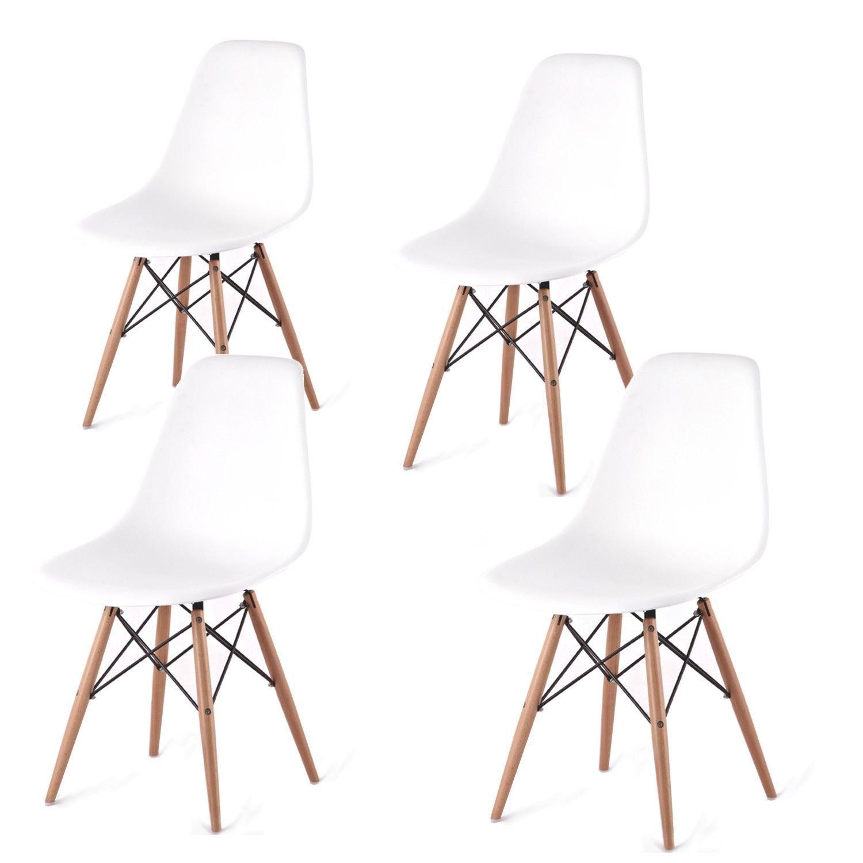 Lot de 4 chaises chaise de cuisine chaise de salle for Salle a manger 53