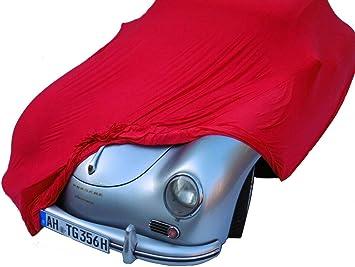 Excolo Schutzdecke Stretch Car Cover Ganzgarage Abdeck Plane Hochwertig Rot 5 80 Mete Auto