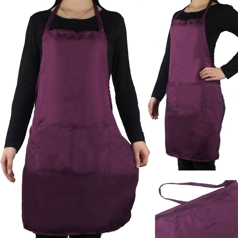 OMG Unisex Men/Women's Apron with 2 Pockets Chefs Kitchen Cooking Baking Home Cleaning Accessories
