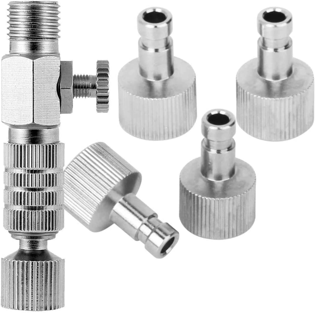 ABEST Airbrush Quick Release Coupling Disconnect Adapter Kit with 1/8