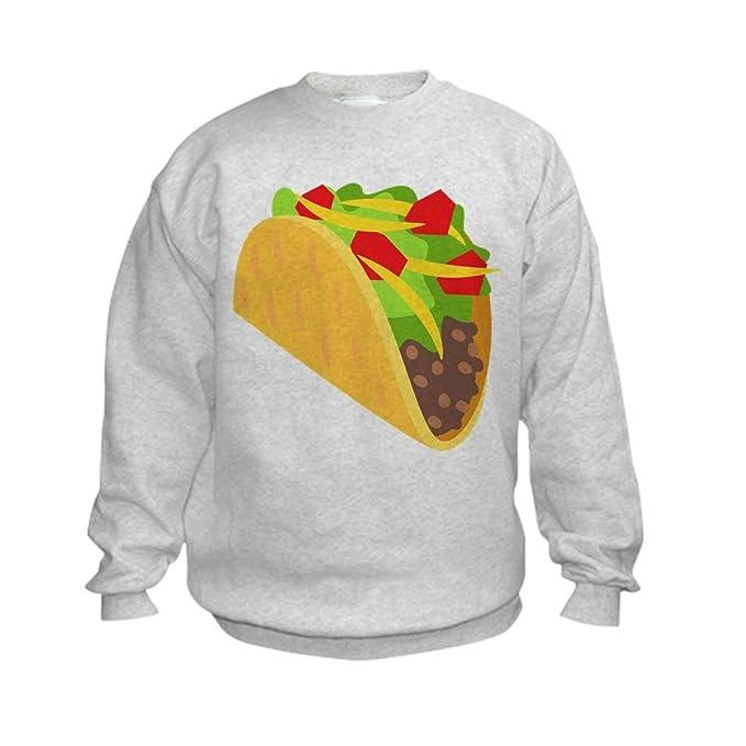 90e6e09899 CafePress Taco Emoji Kids Sweatshirt, Youth Crew Neck Sweatshirt Ash Gray
