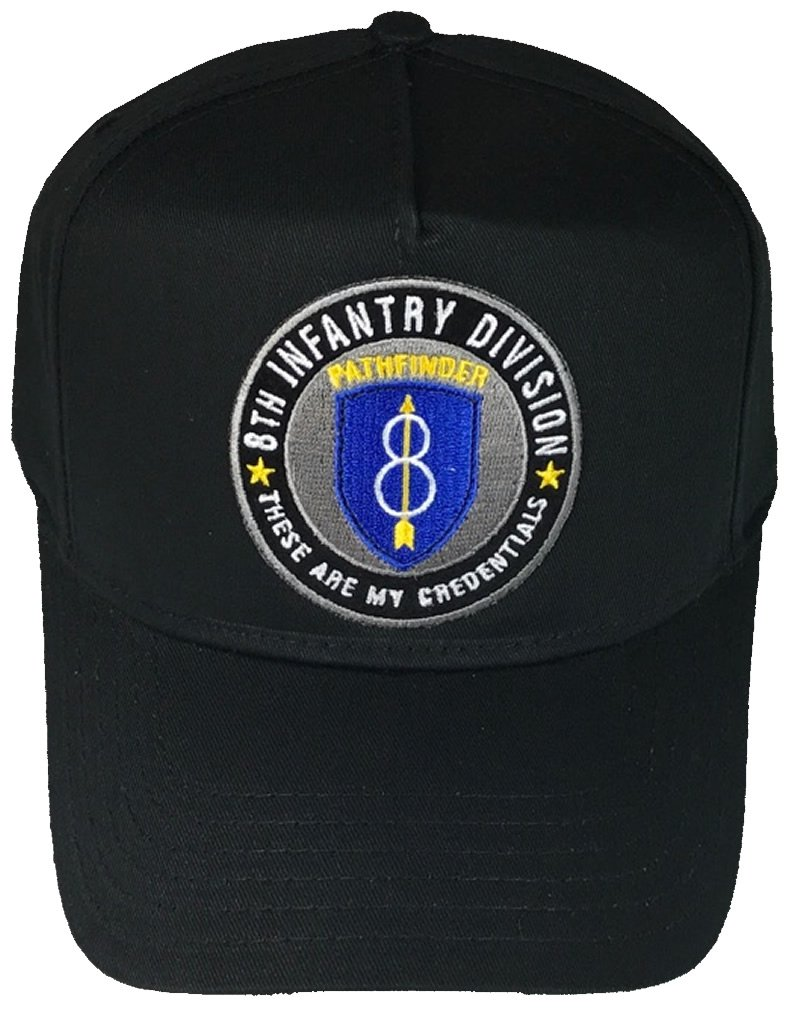 8TH INFANTRY DIVISION HAT - BLACK - Veteran Owned Business