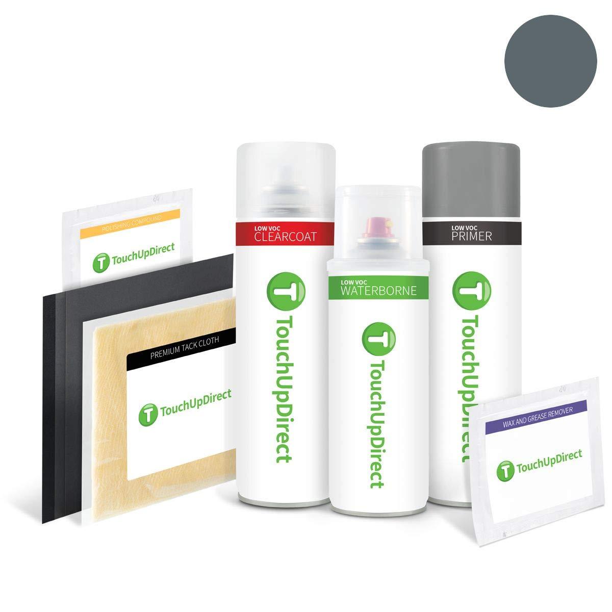TouchUpDirect Exact Match Automotive Touch Up Paint Matches GMC Dark Slate Metallic (WA457B/GPA) Aerosol - Platinum Package