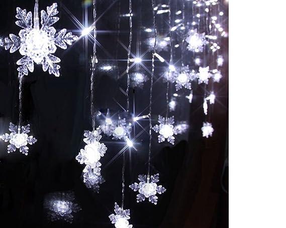ILOVEDIY 2M 20LED Flocon De Neige Guirlandes Lumineuses Chambre Enfant à  Piles Noel Decoration Blanc Chaud