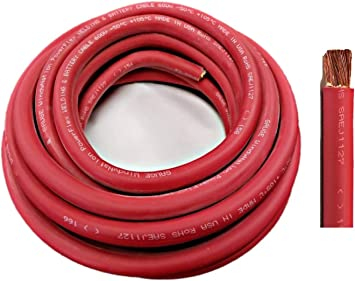 Amazon Com Wni 2 Gauge 10 Feet Red 2 Awg Ultra Flexible Welding Battery Copper Cable Wire Made In The Usa Car Inverter Rv Solar Home Improvement