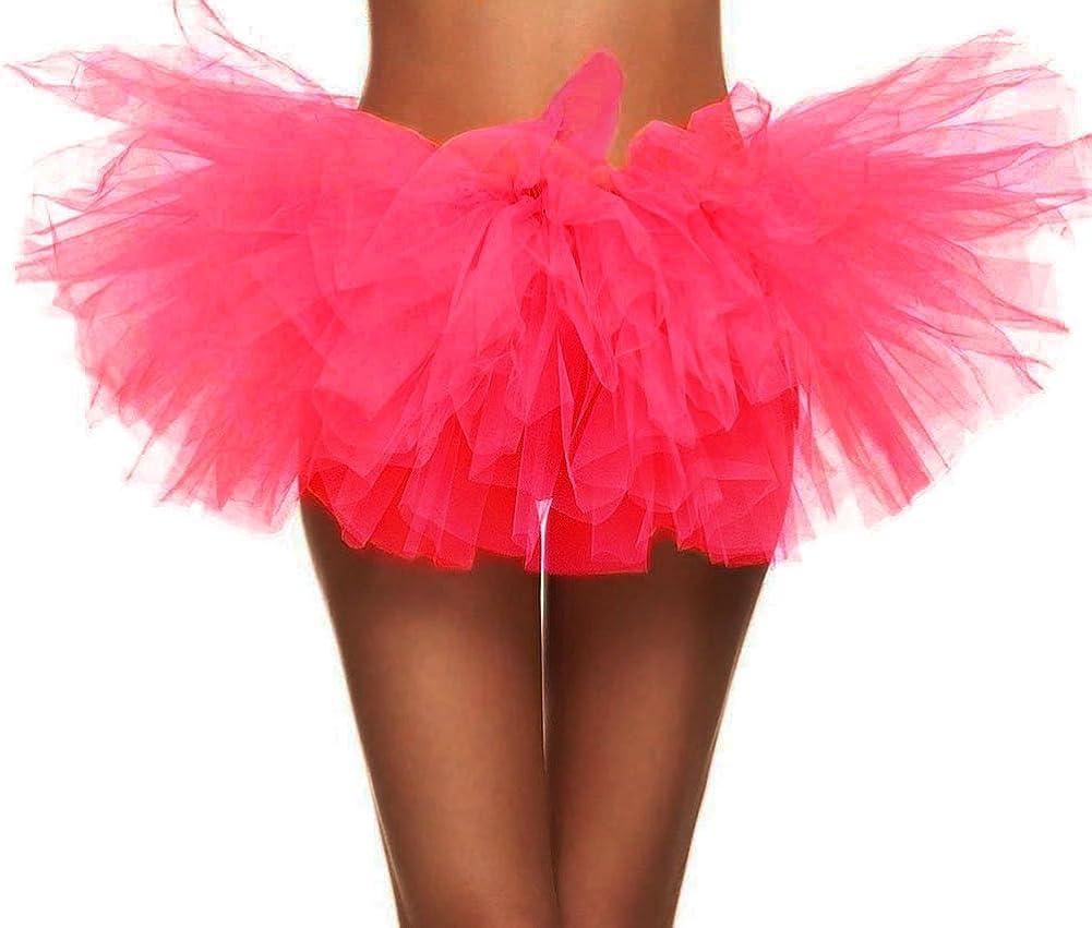 Simplicity Women's Classic 5 Layered Tulle Tutu Skirt