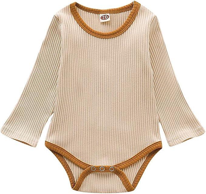 6-9 Months Baby Boys Girls Romper Cotton Jumpsuit Long Sleeve Bodysuit Infant Sleepsuit Cute Pajama Onesie