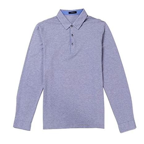 NISHIPANGZI Polo Shirt Hombres Otoño Invierno nuevos Mens sólido ...
