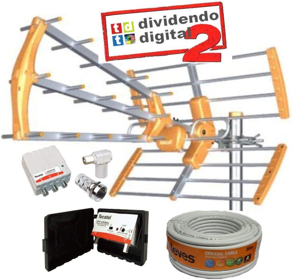 Kit Antena TECATEL BKM-15 Naranja + Rollo Cable TELEVES ...