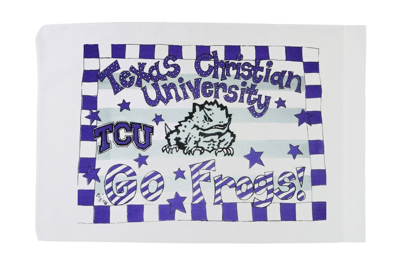 Toddler Pillow - Texas Christian University by Ear Mitts: Earmitts; Bunnies and Bows