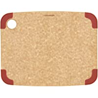 Epicurean Non-Slip Series Cutting Board, 11.5-Inch by 9-Inch, Natural/Red