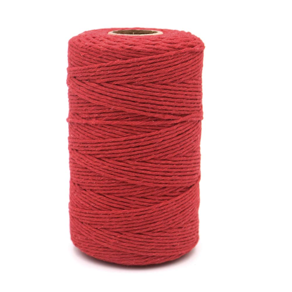 G2PLUS 656 Feet 2 MM Cotton Twine Craft Cord Packing String Rope for DIY Arts Crafts Projects 並 行 輸 入 品
