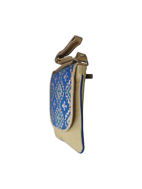Bhamini Blue Ethnic Patola Sling Bag