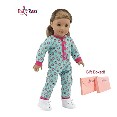 "18 Inch Doll CUTE Lamb PJs Pajamas Doll Clothes with Slippers for Easter | 18 Inch Doll Pajamas PJs Set, Including Lamb Doll Slippers! | Doll PJs for 18"" American Girl and My Life Dolls 