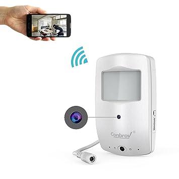 Wireless cámara oculta, conbrov WiFi activado por movimiento y 720p IP cámara con 30 m visión nocturna gama, Mini espía Cam para hogar y oficina: Amazon.es: ...