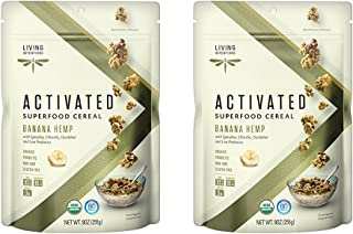 product image for Living Intentions Superfood Cereal, Banana Hemp, with Probiotics, 9 Ounce Pack of 2