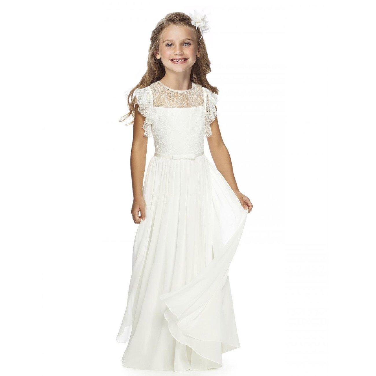 Sittingley Fancy Girls Holy Communion Dresses 1-12 Year Old Off White Size 10