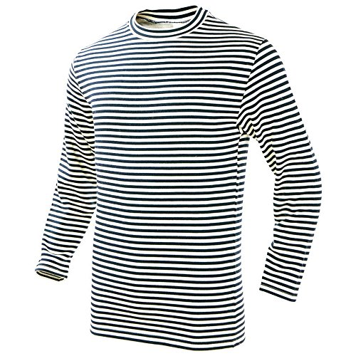 Mil-Tec Striped Russian Winter Sweater - Medium Blue/White